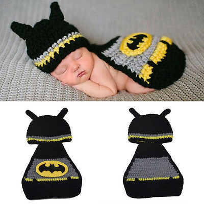 Unique Gift Baby Manual Connected Set Batman Siamese Baby Photography Suit