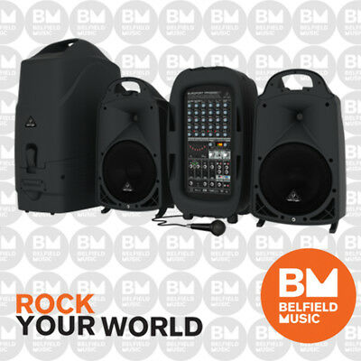 Behringer EUROPORT PPA2000 Portable PA System 2000W 8 Channel w/ Bluetooth & FX