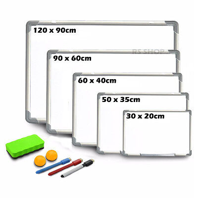 Magnetic Dry Wipe Whiteboard Home Office Notice Memo Board Pen Eraser Magnets