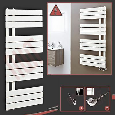 "500mm(w) x 1200mm(h) ""Apollo"" Electric Latte Designer Towel Rail Radiator - 300W"