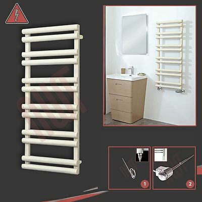 "500mm(w) x 1200mm(h) Pre-filled Electric ""Totem"" Latte Towel Rail - 300W"