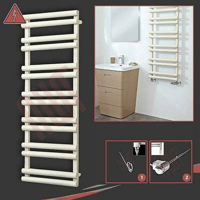 "500mm(w) x 1500mm(h) Pre-filled Electric ""Totem"" Latte Towel Rail - 600W"