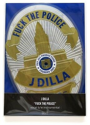 """J Dilla Fuck The Police RSD exclusive shaped 7"""" vinyl picture disc NEW/SEALED"""