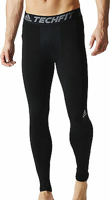 Adidas Tech-Fit Base Mens Long Compression Tights - Black