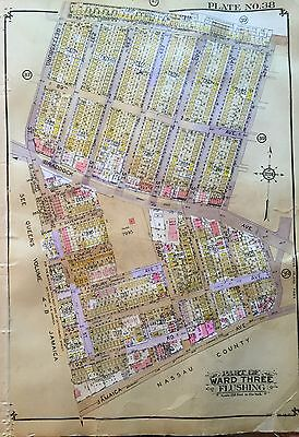 Original 1927 E. Belcher Hyde Atlas Map Bellerose Queens New York