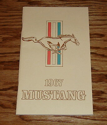 1967 Ford Mustang Owners Operators Manual 67 GT