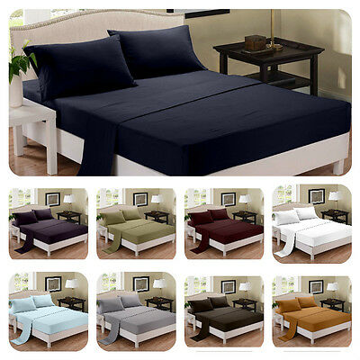 Bamboo Delight Sheet Set 4 Piece Extra Soft and Deep Bedding King or Queen