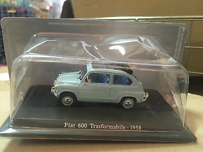 "Die Cast "" Fiat 600 Trasformabile - 1958 "" + Teca Rigida Box 2 Scala 1/43"