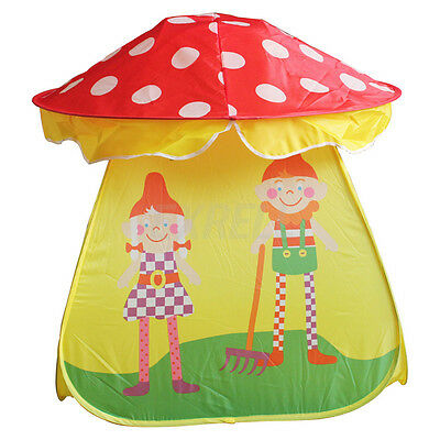 Portable Folding Mushroom Play Tent Children Play House Indoor Outdoor Tent