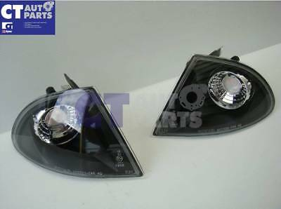 BMW 3 SERIES E46 1998-2001 BLACK Front Corner Indicator Lights 4 DOOR SEDAN