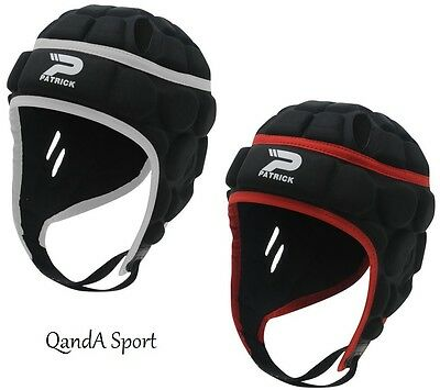 Jnr Black Patrick World Rugby Approved Rugby Union Protective Head Gear Headgear