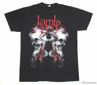 LAMB OF GOD Vintage T Shirt TOUR Concert 2010's THRASH METAL BAND Eye Logo