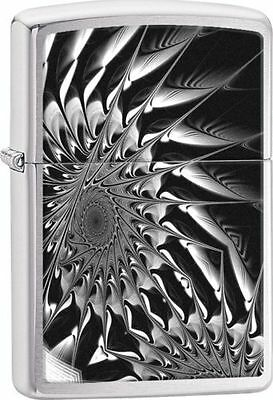 Zippo Windproof Metal Gears Abstract Lighter,  29061, New In Box