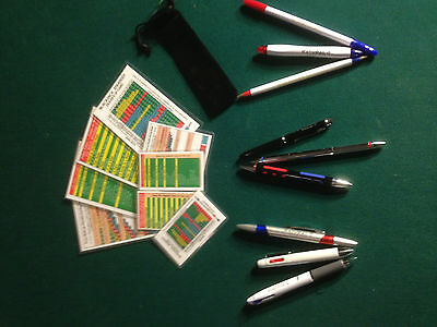 Sample Pack of Casino Strategy Cards and Baccarat Pens