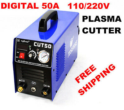 Inverter dc plasma cutter CUT50 1-14mm cutting 110/220V & consumable IN CA Stock