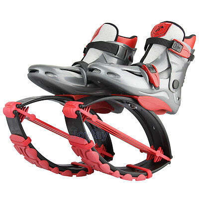 Unisex Red Kangoo Jumping Shoes Fitness Jump Shoes Bounce Shoes Fitness Shoes