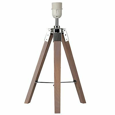 Modern Industrial Wooden Nautical Tripod Table Lamp Base Lounge Light Lighting