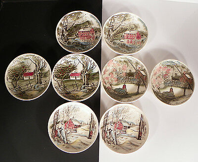 Johnson Brothers FRIENDLY VILLAGE Coaster or Sweet Dish Butter Pat (s) LOT OF 8