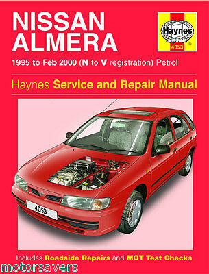 Nissan Almera 95-2000 Workshop Manual - TO CLEAR - HAYNES 4053- 1 ONLY !