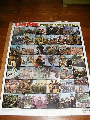 Vintage USSR Field Uniforms Defense Intelligence Agency Recognition Chart 1987