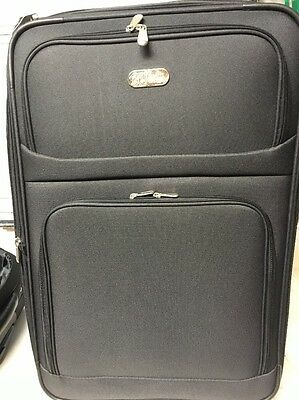 2d3d2bd24 BOB MACKIE - Bob Mackie Expandable 5-Piece Luggage Set BLACK ...