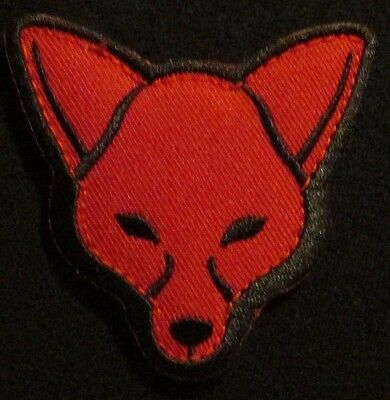 Fox Head Usa Army Morale Tactical Isaf Combat Military Badge Red Hook Patch