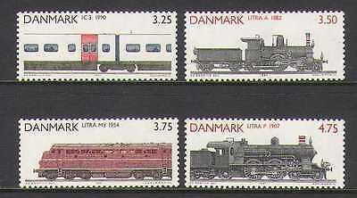 Denmark 1991  Train Railways Locomotives MNH