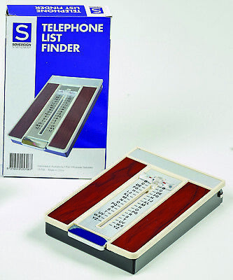 Sovereign Telephone Index  List Finder, Teledex Woodgrain Finish - 25706