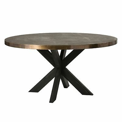 "60"" Round Dining Table Gold Gray Antique Brass Silver Finish Solid Brass Sheet W"