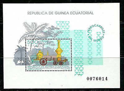 Equatorial Guinea 1991 Trains Railways Locomotives MS  MNH