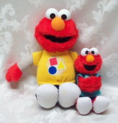 Sesame Street Talking Singing ELMO Tested Works Hasbro MUPPETS ABC Shapes Colors