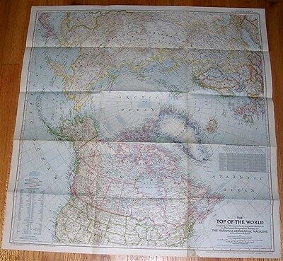 National Geographic MAP TOP of the WORLD October 1949