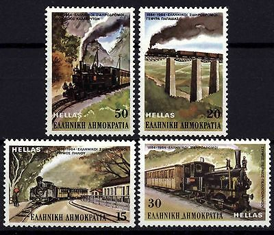 Greece 1984 Trains Railways Locomotives MNH