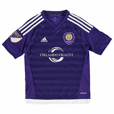 adidas Childrens Kids Football Soccer Orlando City SC Home Shirt 2015/2016