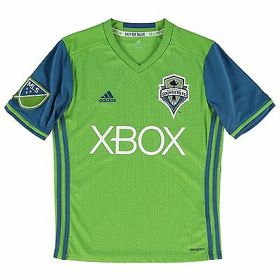 adidas Childrens Kids Football Soccer Seattle Sounders Home Shirt 2016 Jersey