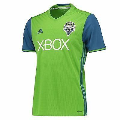 adidas Mens Gents Football Soccer Seattle Sounders Home Shirt 2016 Jersey