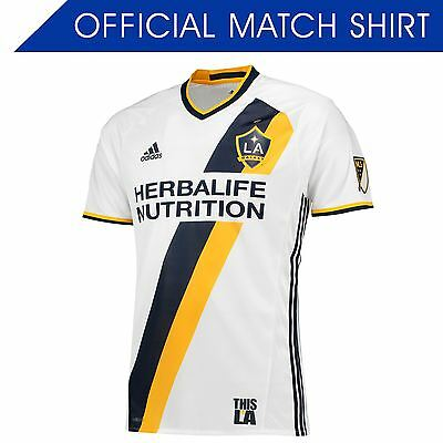 adidas Mens Gents Football Soccer LA Galaxy Authentic Home Shirt 2016 Jersey