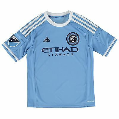 adidas Childrens Kids Football Soccer New York City FC Home Shirt 2015/2016