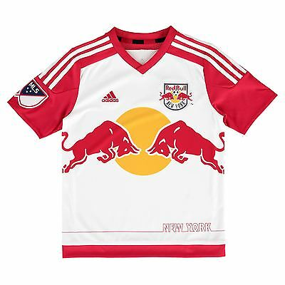 adidas Childrens Kids Football New York Red Bulls Home Shirt 2015/2016