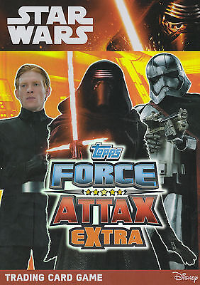 TOPPS STAR WARS Force Attax Awakens EXTRA NEAR COMPLETE SET OF120 CARDS