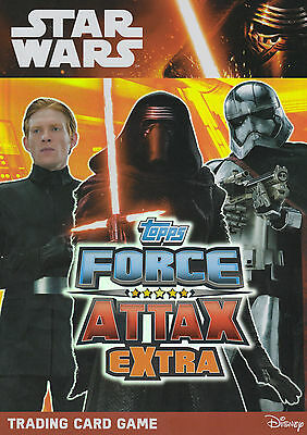 TOPPS STAR WARS Force Attax Awakens EXTRA CARDS 97 T0  120 HOLO FOILS