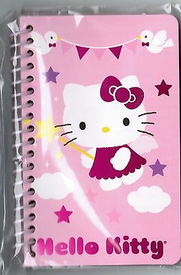 Sanrio HELLO KITTY Small SPIRAL Notebook! NEW PACK Fairy Flying with a Wand!