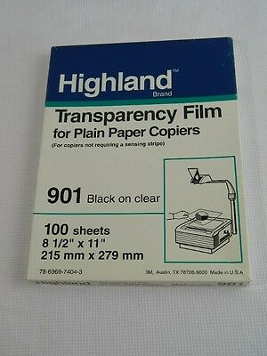 Highland 901 Transparency Film for Copiers, 55 sheets