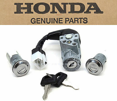 New Genuine Honda Ignition Key Switch Lock Set 89-07 CH80 Elite 80 Scooter #M27