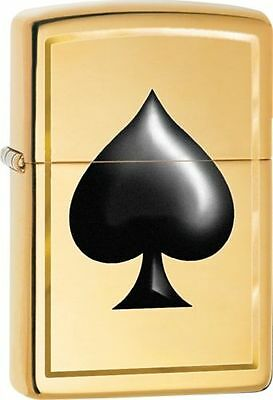 Zippo Windproof Lighter With Ace Of Spades Design, 29094, New In Box