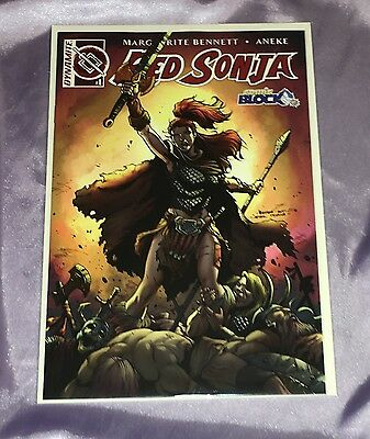 Red Sonja #1 2016 Dynamite Comic Block cover Variant, Bennett Aneke EXCLUSIVE~NM