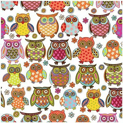 """Colorful Owl Tissue Paper # 257 ..10 large sheets ... 20"""" x 30"""""""