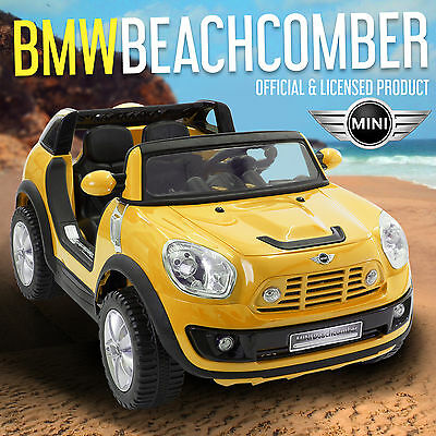 BMW Mini Beachcomber Kids Electric Ride On Car / Cars 12V Two Seater LICENSED