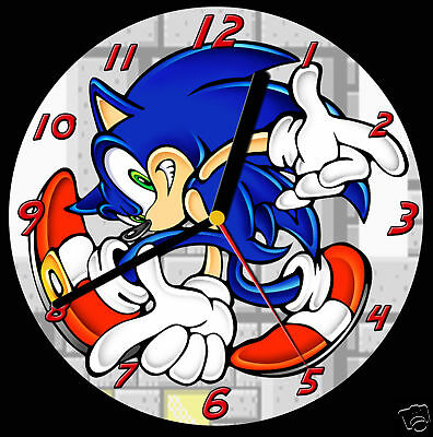 Sonic the Hedgehog CD Clock, can be personalised