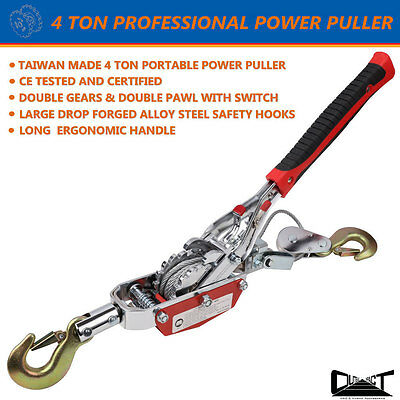4 TON TAIWAN PROFESSIONAL MADE POWER PULLER WINCH HAND PULLER HOIST TOOLl10027